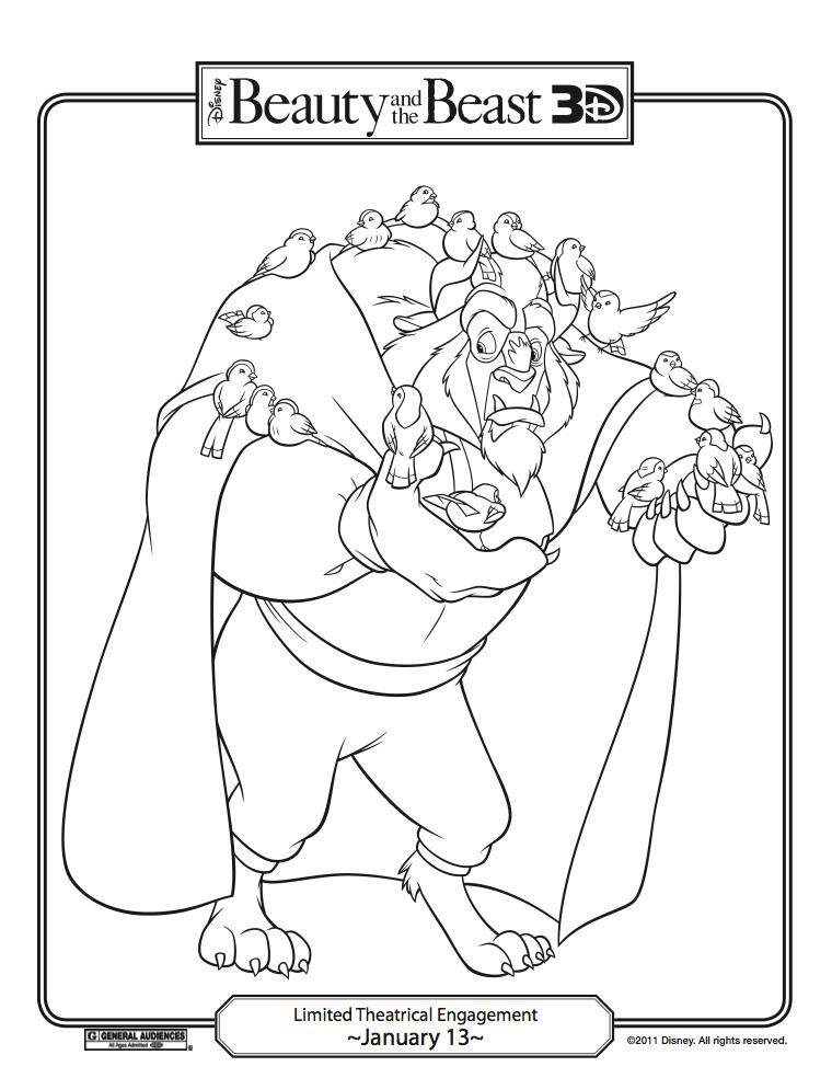 Fun Stuff: Disney\'s Beauty and the Beast Coloring Pages! | Carrie ...