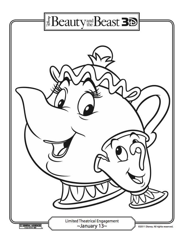 Fun Stuff Disneys Beauty And The Beast Coloring Pages
