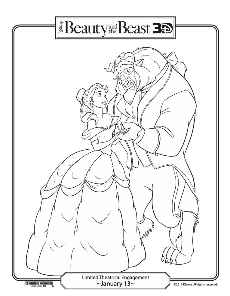 coloring pages beauty and the beast disney - fun stuff disney s beauty and the beast coloring pages