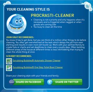 Scrubbing Bubbles Dirt Index Quiz Results
