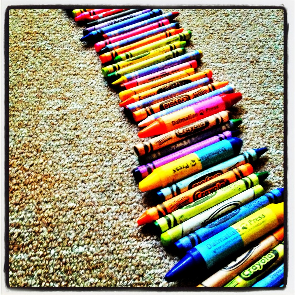 Wordless Wednesday - Crayon Rainbow