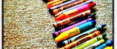Wordless Wednesday - Crayon Rainbow