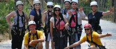 Ziplining Group Photo Florida EcoSafaris