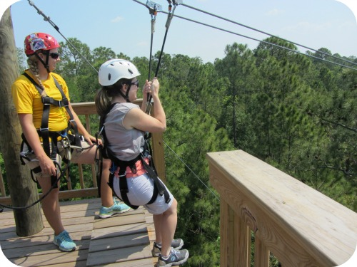 Ziplining at Florida Eco Safaris