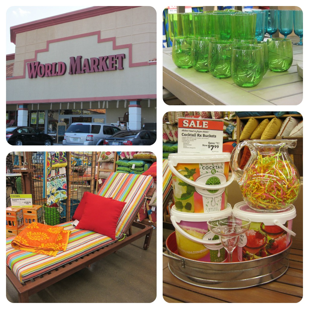 World Market Collage 3. Creating My Backyard Oasis with World Market  WorldMarketSweeps