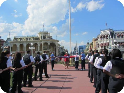 Flag Retreat Ceremony at Walt Disney World's Magic Kingdom