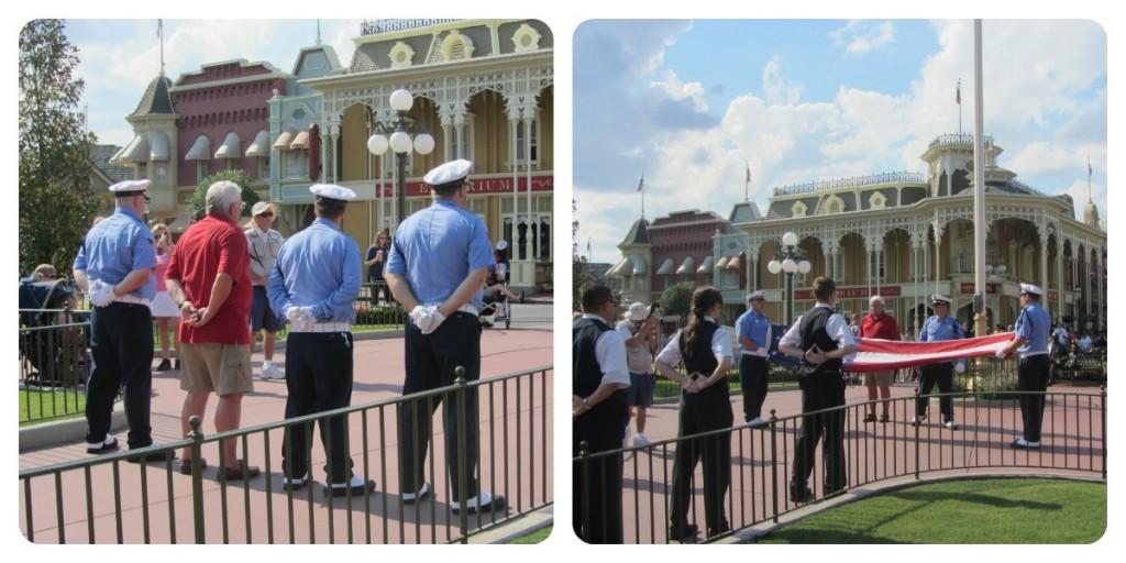 Flag Retreat Magic Kingdom Collage