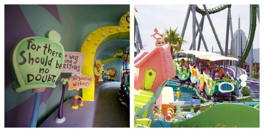 Seuss Trolley Train Collage at Islands of Adventure
