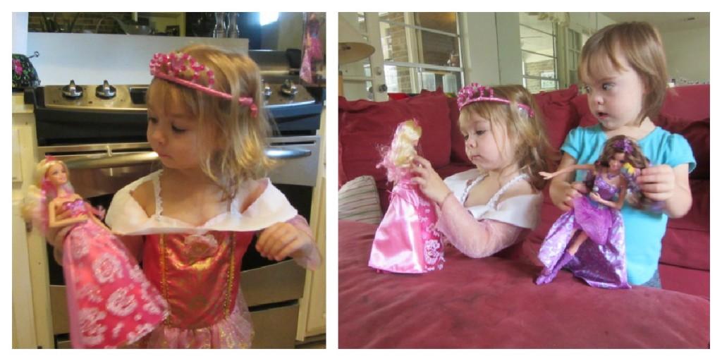 Barbie Princess Popstar Dolls Collage