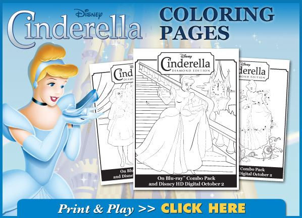 Disney S Cinderella Activity Sheets And Coloring Pages