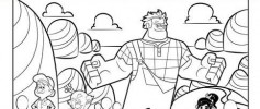 Wreck It Ralph Coloring Page