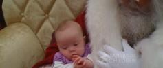 Molly and Santa 2010 watermark