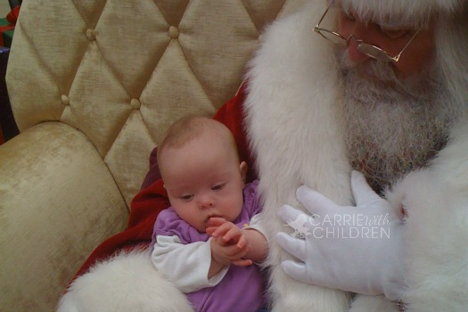 Molly and Santa 2010 watermark