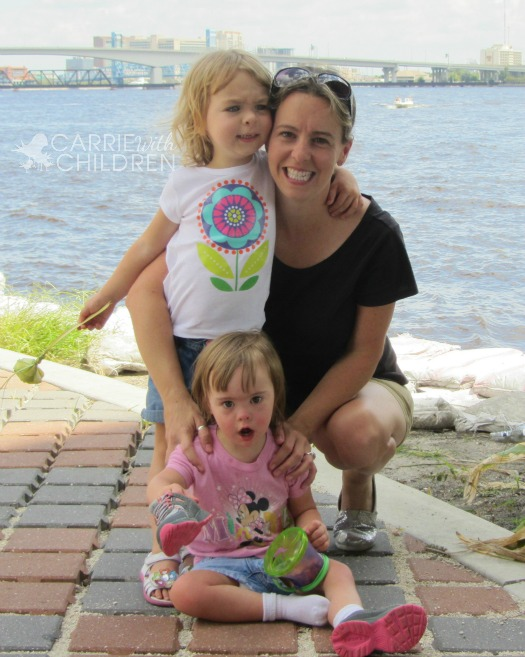 Mom Blogger Carrie with Children
