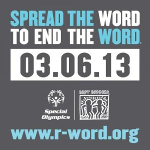 End the R Word Campaign Button