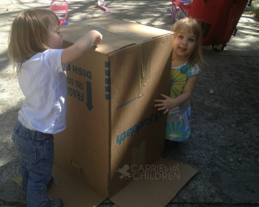 Maggie and Molly with Empty Box