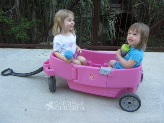 Step2 All Around Wagon Pink with Kids
