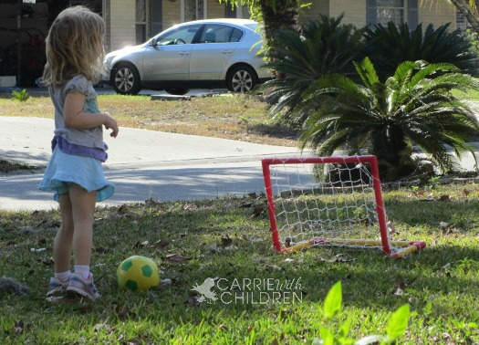 Maggie Practicing Soccer