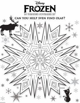 Frozen Find Olaf Maze jpg