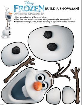 Disney's Frozen Snowman Activity Sheet