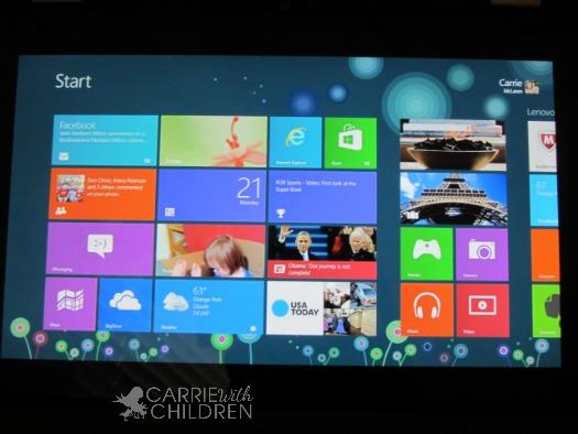 Lenovo IdeaPad Yoga 13 Windows 8 View
