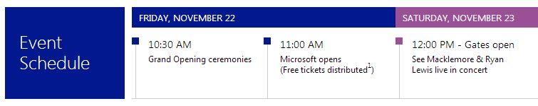Microsoft Store Calendar Events