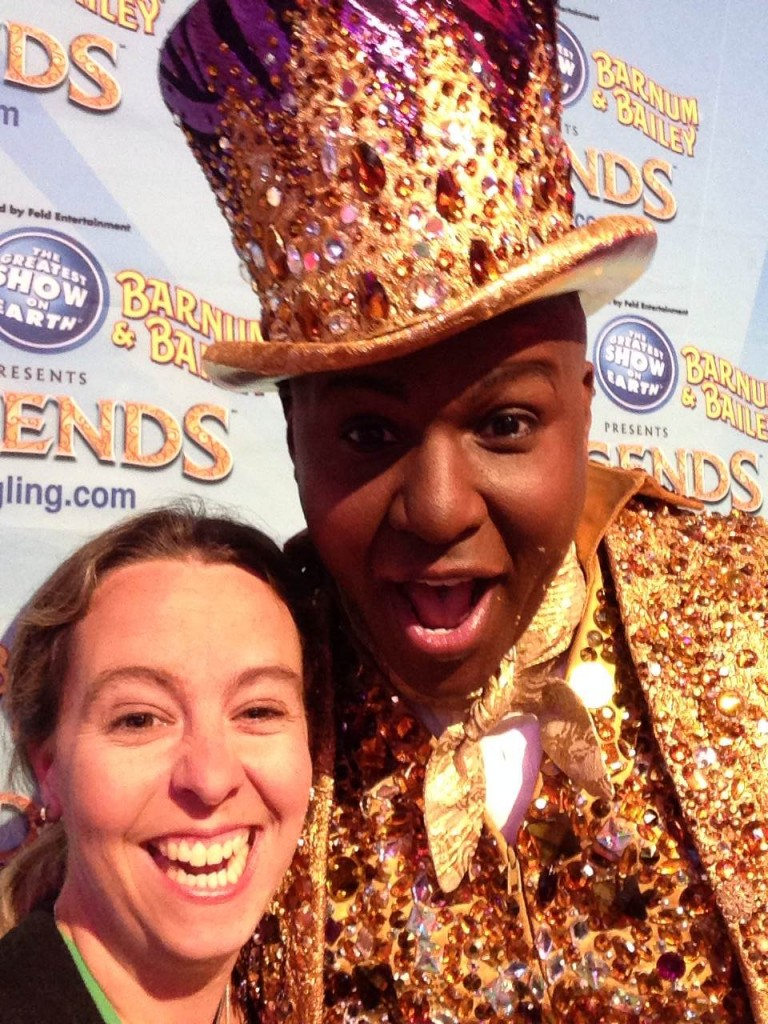 Selfie Picture with Ringling Bros Circus Ringmaster