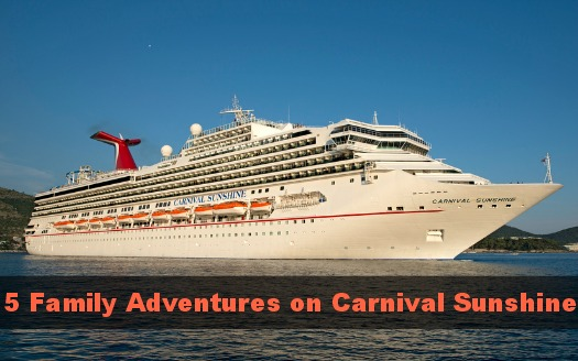 Carnival Sunshine Family Activities
