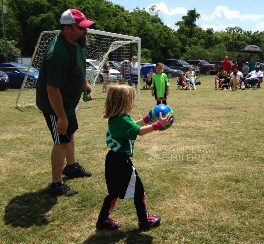 Maggie and Dad at Soccer Watermarked