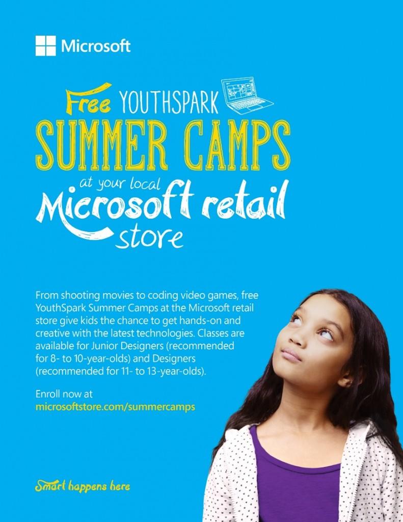 Microsoft Store Summer Camp