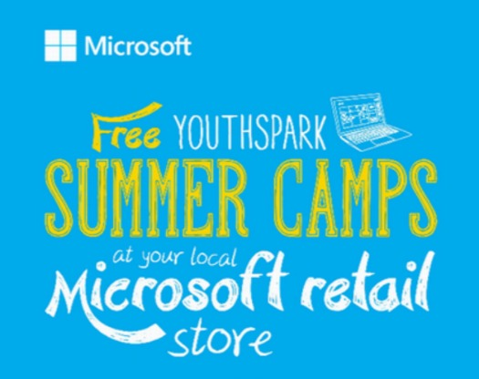 Microsoft Store Summer Camps Button