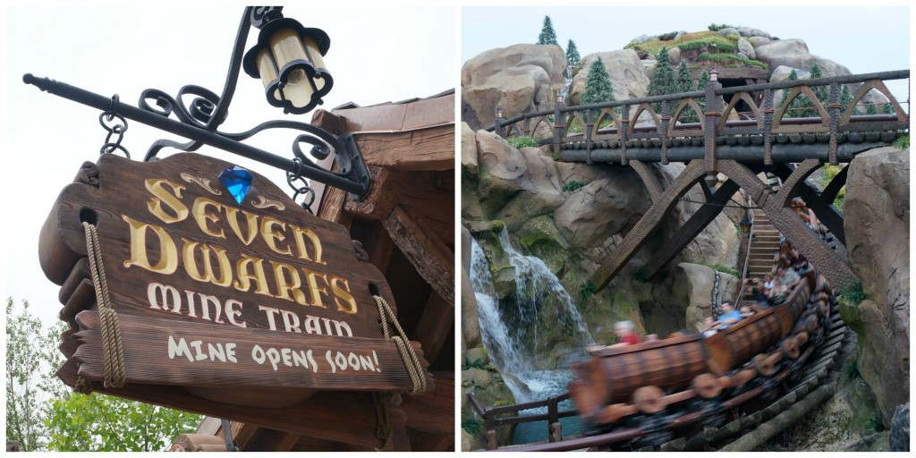 Seven Dwarfs Mine Train Collage