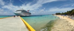 Grand Turk Carnival Freedom Panoramic Picture