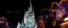 Cinderella Castle at Magic Kingdom Christmas