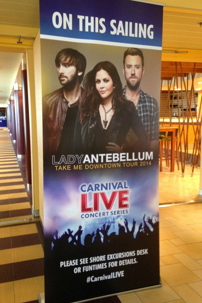 Lady Antebellum Sign for Carnival LIVE