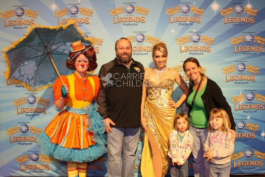 Family Picture at Circus Watermarked