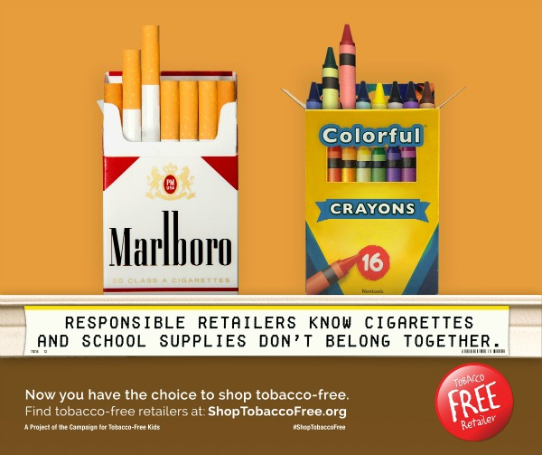 Tobacco Free Retailers Crayons Cigarettes
