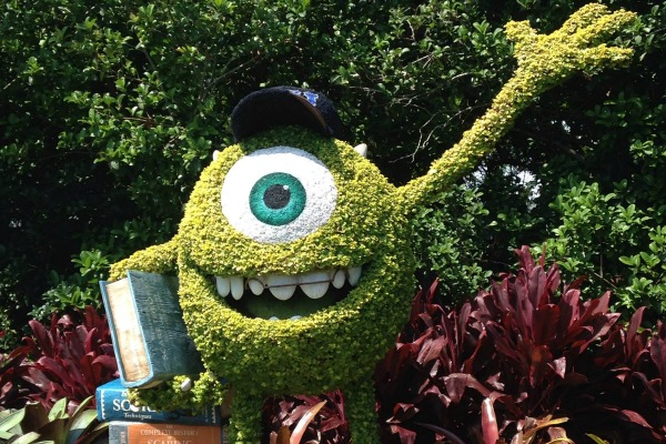 Monsters University Topiary at Epcot Flower and Garden Festival